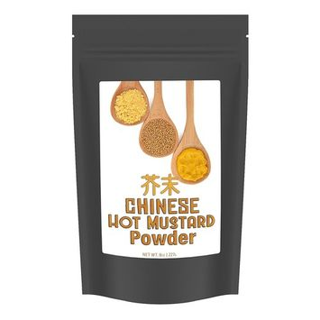 Hot Chinese Mustard Powder, Easily Mixes with Water to Make Chinese Mustard / Oriental Hot Mustard, 8oz