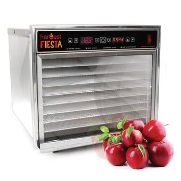 Tsm Products 8 Tray Harvest Fiesta Digital Food Dehydrator with Shelf
