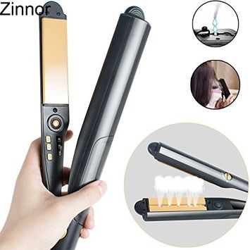 Zinnor Steam Hair Straightener Flat Iron Ceramic -Argan Oil Steam-Hair Curler Professional Argan Oil Infused Hair Treatment, Curling Iron Wet and Dry Styling Tools for Hair Straightening and Curling