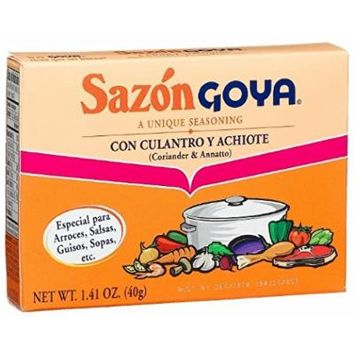 Goya® Sazon Culantro-achiote Seasoning Sazon (Coriander & Annatto Seasoning)