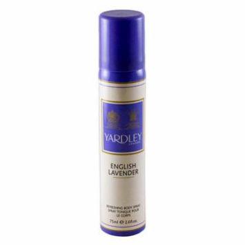 Yardley English Lavender Refreshing Body Spray 2.6 Oz / 75 Ml for Women by Yardley Of London