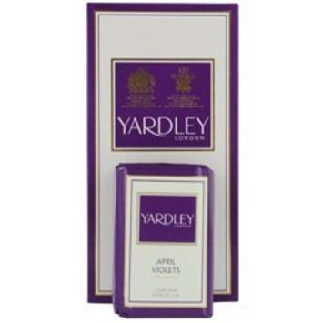 YARDLEY by Yardley for WOMEN: APRIL VIOLETS LUXURY SOAPS 3X3.5 OZ EACH by BFRK