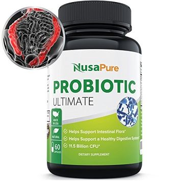 Probiotic for Men Women and Children: Vegetarian: Probiotics Improve Digestion, Increase Energy, and Promote Weight Loss: 11 Billion CFU