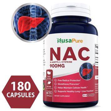Best N-Acetyl Cysteine (NAC) 900mg 180caps (NON-GMO & Gluten Free) Liver Support, Detoxification, and Immune Function - Amino Acids to Support Antioxidant...
