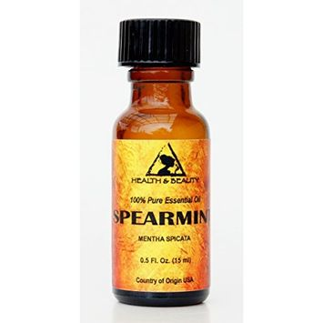 Spearmint Essential Oil Organic Aromatherapy Therapeutic Grade 100% Pure Natural 0.5 oz, 15 ml
