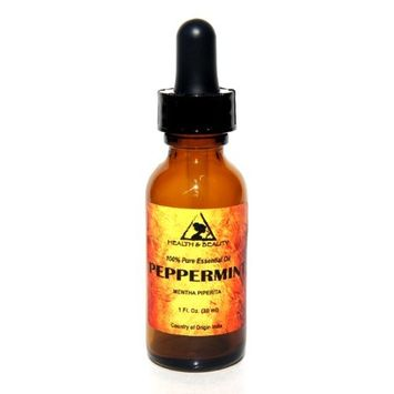 Peppermint Essential Oil Organic Aromatherapy Therapeutic Grade 100% Pure Natural 1 oz, 30 ml with Glass Dropper