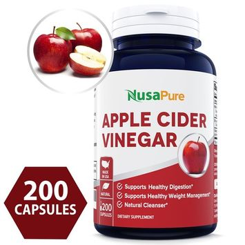 Best Apple Cider Vinegar 1000MG 200 Capsules (Non-GMO & Gluten Free) Tasteless - All Natural Detox, Digestion, Weight Management & Powerful Cleanser - Extra 1350mg Vitamin B-6 & Lecithin