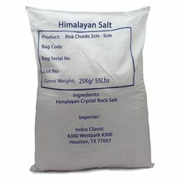 Indusclassic 55 lbs Solay Himalayan Salt Chunks Stone