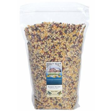 Riehle's Select Popping Corn - Rainbow Delight Old Fashioned Whole Grain Popcorn - 6lb (96oz) Resealable Bag - Non GMO, Gluten Free, Microwaveable, Stovetop and Air Popper Friendly