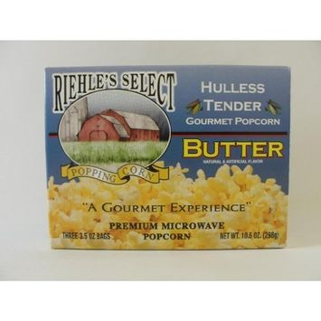 Riehle's Select Popping Corn Hulless Butter Microwave Popcorn [Gourmet Butter]