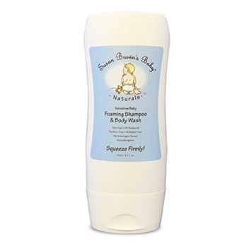 Susan Brown's Baby Sensitive Baby Foaming Shampoo & Body Wash, Tear Free & Ph Balanced , 8.5-Ounce