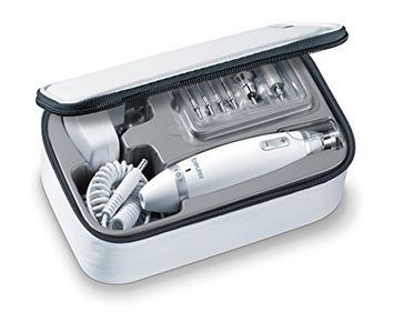 Beurer MP62 Electric Manicure Pedicure Kit w/Powerful Nail Drill and Toolbox