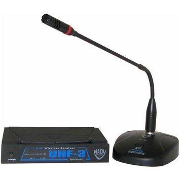 NADY UHF-3 PODIUM MIC SYSTEM WIRELESS CHANNLE/FREQ. MU1/470.55