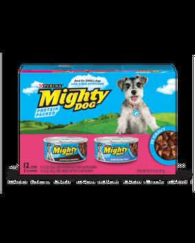 Mighty Dog Small Breed Gravy Wet Dog Food Variety Pack (Porterhouse Steak & Tenderloin Tips)