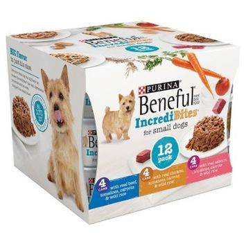 Beneful IncrediBites Beef, Chicken, & Salmon Wet Dog Food Variety pack 3 oz cans, 12 pack