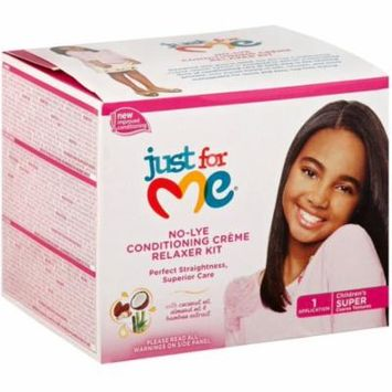 4 Pack - Soft & Beautiful Just For Me No-lye Conditioning Creme Relaxer Kit, Super 1 ea