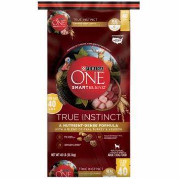 Purina ONE SmartBlend True Instinct With a Blend of Real Turkey & Venison Adult Premium Dog Food 40 lb. Bag