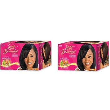 [PACK OF 2] Soft & Beautiful No-Lye Relaxer Kit SUPER: Beauty