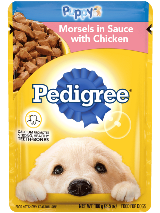 PEDIGREE Wet Dog Food Puppy Morsels in Sauce with Chicken