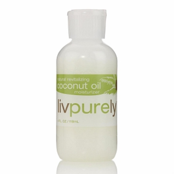 Livpurely Organics Natural Revitalizing Coconut Oil Moisturizer for Face and Body