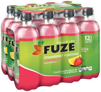 fuze® strawberry flavored lemonade 1 plastic