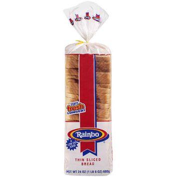 Rainbo Thin Sliced Enriched Bread, 24 oz