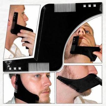 Premium Wood Beard Brush with Boar Bristles, Bamboo All Fine Beard Comb, Pocket Beard and Moustache Comb Dressing Comb Black