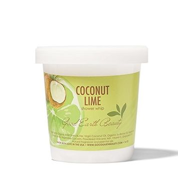 Good Earth Beauty Exfoliating Shower Whip & Body Scrub Natural Coconut Lime