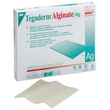 3M Tegaderm Ag Alginate Silver Dressing ''2 x 2, Box of 10''
