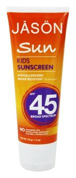 JASON Natural Products - Sunbrellas Kids Natural Sunscreen 45 SPF - 4 oz.(pack of 2)