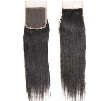 VRHOT 10 inch Straight Lace Closure Free Part 4