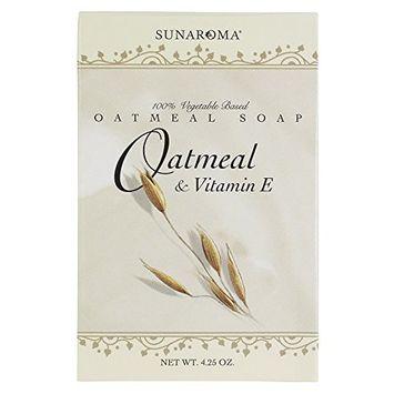 Sunaroma Soap Oatmeal & Vitamin-E Bar 4.25 Ounce Boxed (125ml) (2 Pack)