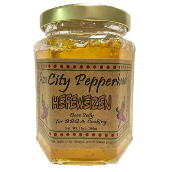 Hefeweizen Beer Jelly - Rose City Pepperheads Pepper Jellies - Birtrhday, Hostess, Get Well, Christmas Gift