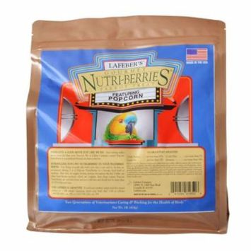 Lafeber Gourmet Nutri-Berries with Popcorn for Parrots 1 lb - Pack of 6