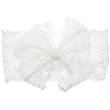 Creazy® Fashion Girls Lace Big Bow Hair Band Baby Head Wrap Band Accessories