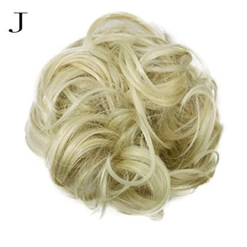 Creazy Women's Curly Messy Bun Hair Twirl Piece Scrunchie Wigs Extensions Hairdressing