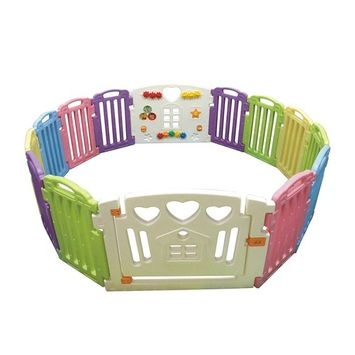 BestMassage Baby Playpen Kids 8 Panel Safety Play Center Yard Home Indoor Outdoor Pen