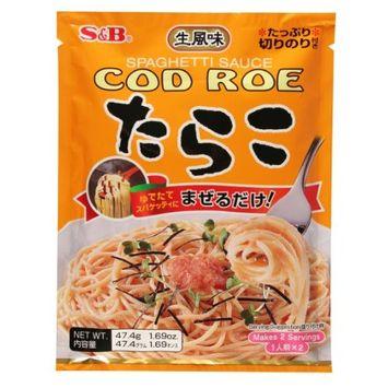 S B S&B Japanese Cod Roe Tarako Spaghetti Sauce, 1.69-Ounce