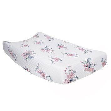 Bebe au Lait Classic Muslin Changing Pad Cover, Garland