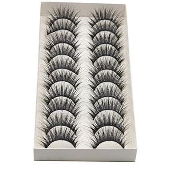 Voberry 1 Box Luxury 3D False Lashes Fluffy Strip Eyelashes Long Natural Party