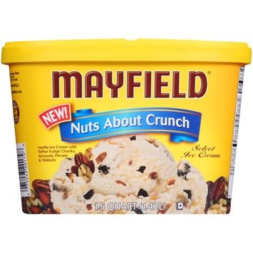 Mayfield Nuts About Crunch Select Ice Cream 1.5 qt