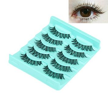 Voberry New Women Girl Lady Big sale! 5 Pair/Lot Crisscross False Eyelashes Lashes Voluminous Hot Eye Lashes