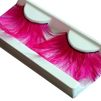Voberry 1 Pair Women Simulation Soft Feather Thick Performance Fake Eyelashes