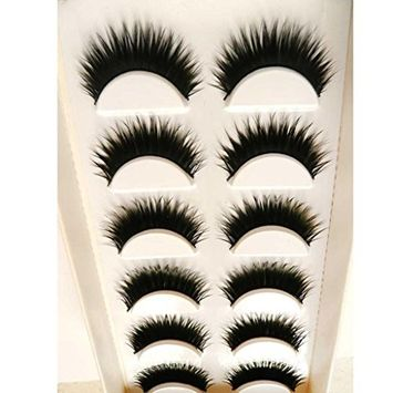 Voberry Women Gril Lady 6 Pair/lot False Eyelashes Lashes HOT Eye Lashes