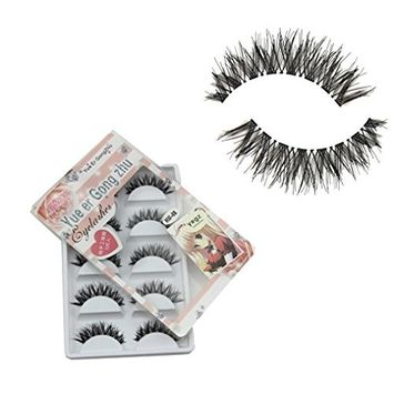 Voberry Women Gril Lady 5 Pair/lot Crisscross False Eyelashes Lashes Voluminous HOT Eye Lashes Hw-8