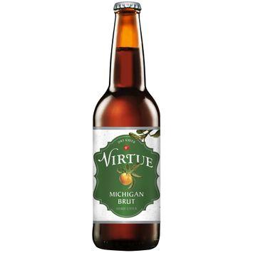 virtue michigan brut dry hard cider