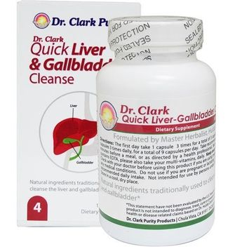 Dr Clark Store Dr Clark Quick Liver & Gallbladder Cleanse - 125 caps