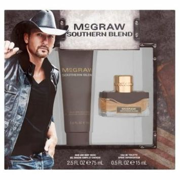 Tim McGraw Southern Blend Hair/Body Wash, Eau de Toilette Spray for Men,