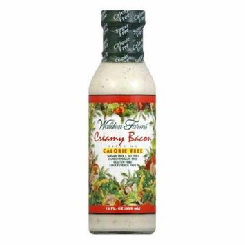 Walden Farms Salad Dressing Creamy Bacon Sugar & Calorie Free No Carb, 12 OZ (Pack of 6)