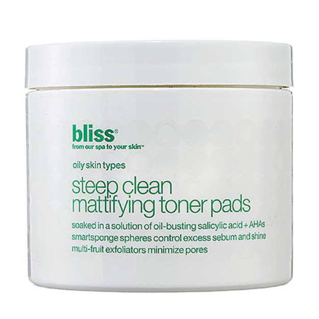 Bliss Steep Clean Mattifying Toner Pads